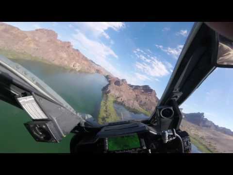 AH-1W Super Cobra Low Level Desert River Run Lake Havasu