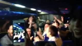 Takımın Obradovic tezahüratları / Fenerbahçe basket team chants coach name(inside bus by Kerem Üçok)