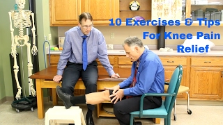 10 exercises tips for knee pain relief by physical therapy