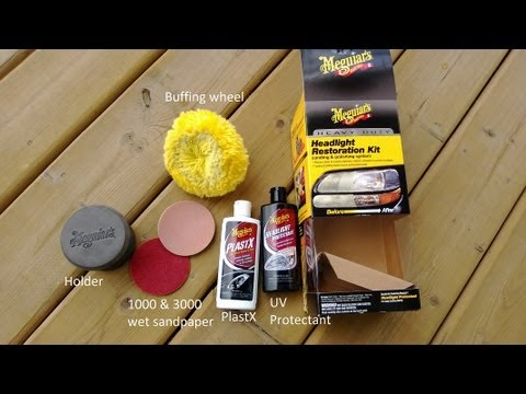 review meguiar 39 s heavy duty headlight restoration kit youtube. Black Bedroom Furniture Sets. Home Design Ideas