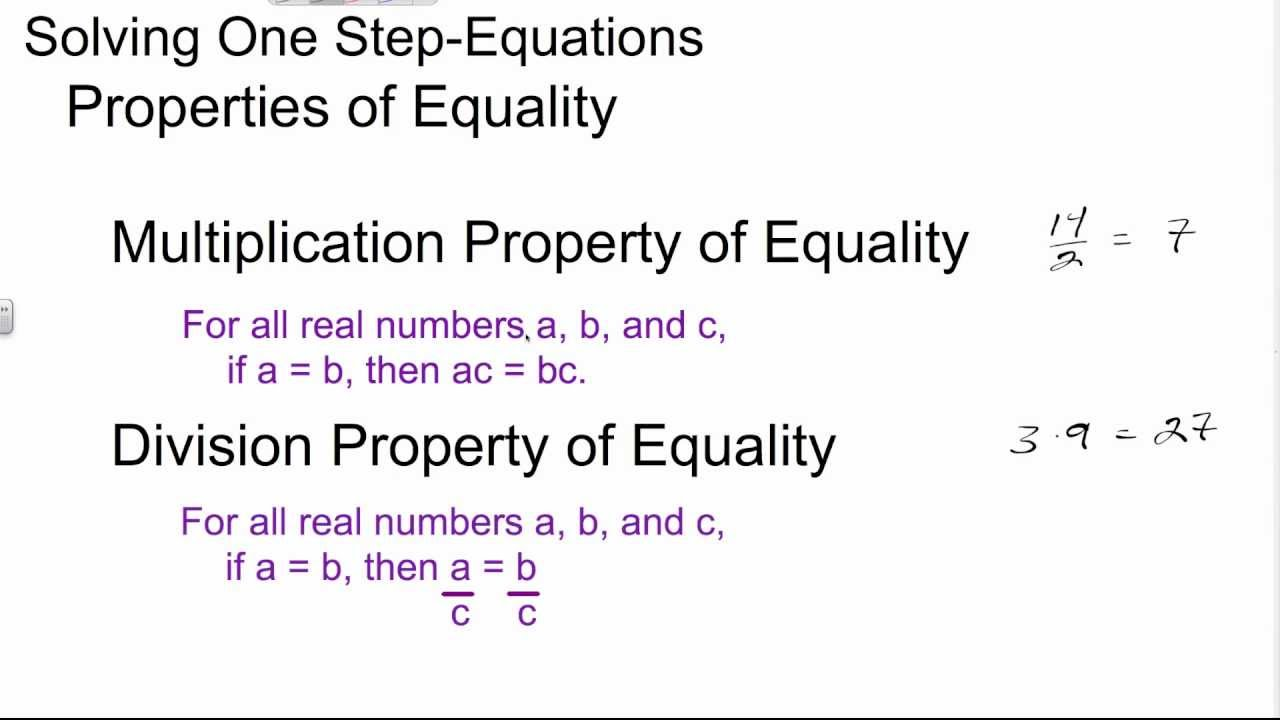Solving One Step Equations with Multiplication and Division - YouTube