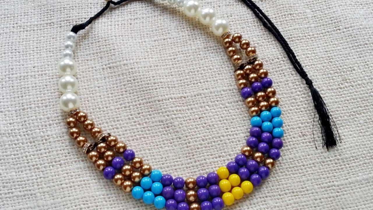 How To Create An Ethnic Style Beaded Necklace - DIY Style Tutorial ...