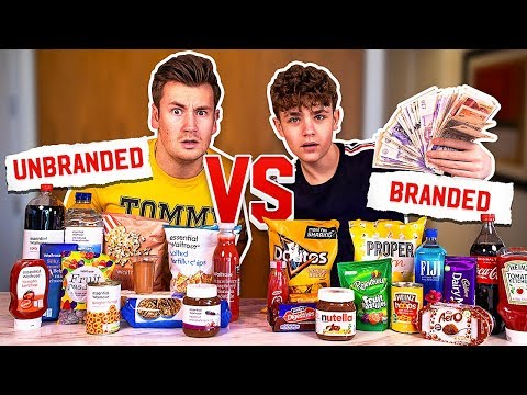 BROTHERS PLAY BLINDFOLDED BRANDED VS UNBRANDED FOODS (£1,000 PRIZE MONEY)