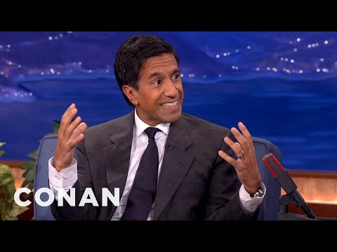 Dr. Sanjay Gupta Prescribes Fake Laughter For Long Life - CONAN on TBS
