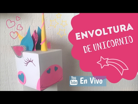 ⭕️  . EN VIVO Cajita de Regalo Unicornio 🦄  :: ChuladasCreativas