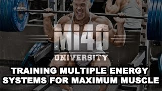 Energy Systems for Muscle Growth ATP Creatine Anaerobic Aerobic