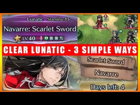 3 Simple Ways To Clear Scarlet Sword Navarre Lunatic Mode (Fire Emblem Heroes)