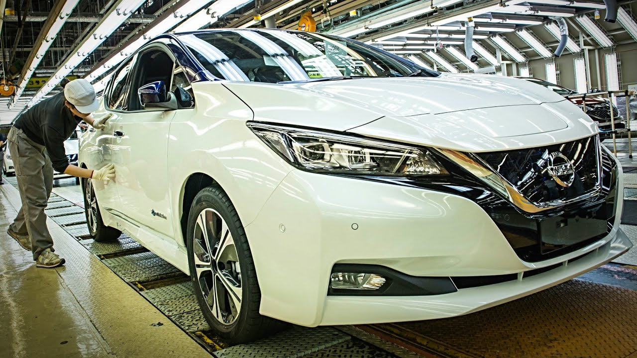 Nissan LEAF Manufacturing   NISSAN Production And Assembly   HOW ITu0027S MADE?  Nissan Leaf Electric Car