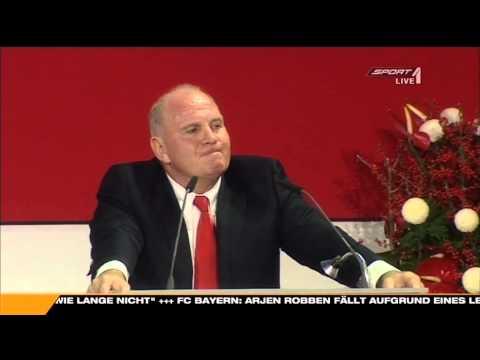 Uli Hoeneß erzählt den  ' Alaba Witz ' :-)