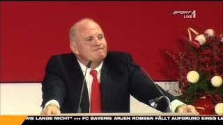 """Uli Hoeneß erzählt den  """" Alaba Witz """" :-)"""