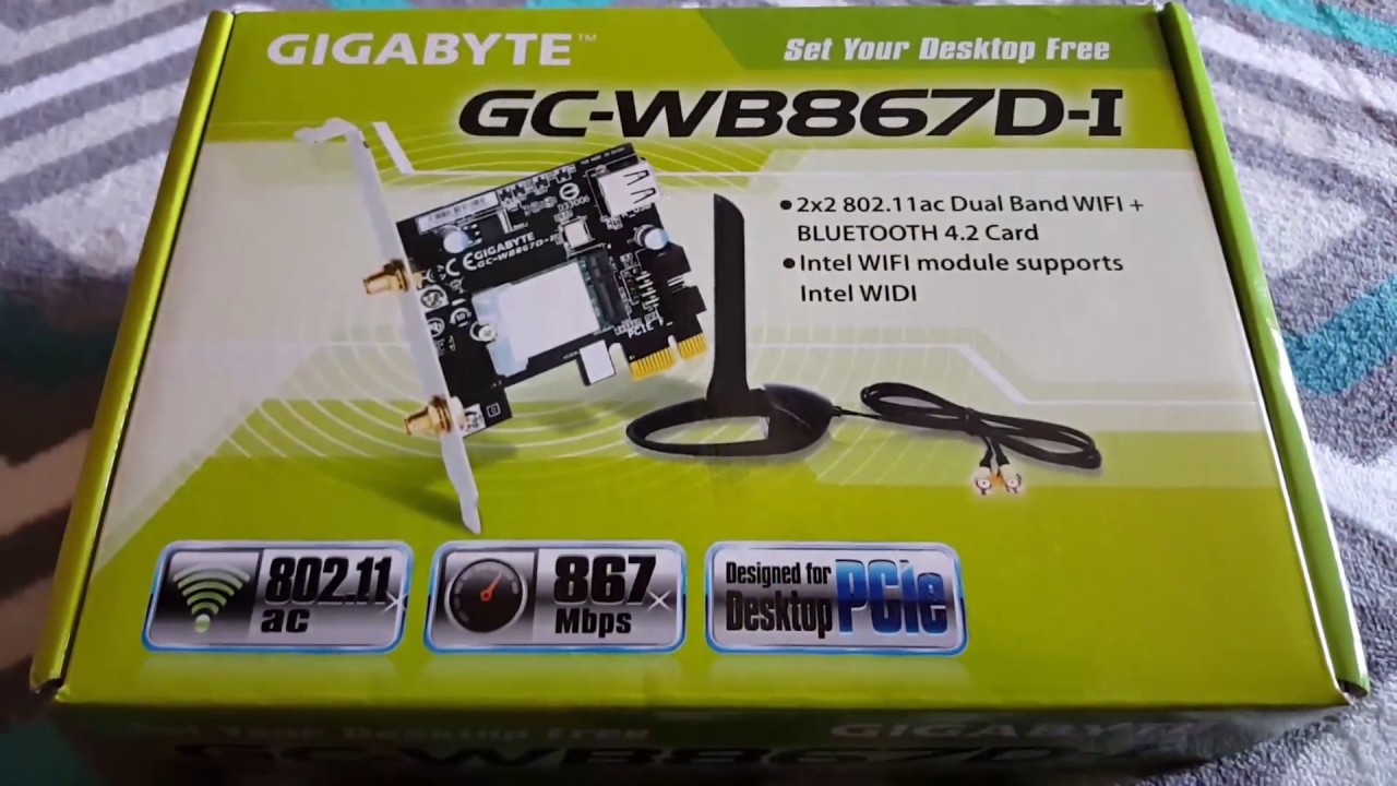 Gigabyte GC-WB867D-I Intel WLAN Drivers Windows 7