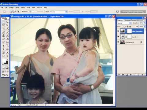 Photoshop CS2 - Phan 22 - Bai 8 - Hieu chinh mau cho anh bang lenh tren cua so layer