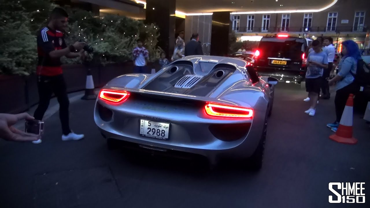 porsche 918 spyder 950 4 oakley design arrives in london youtube
