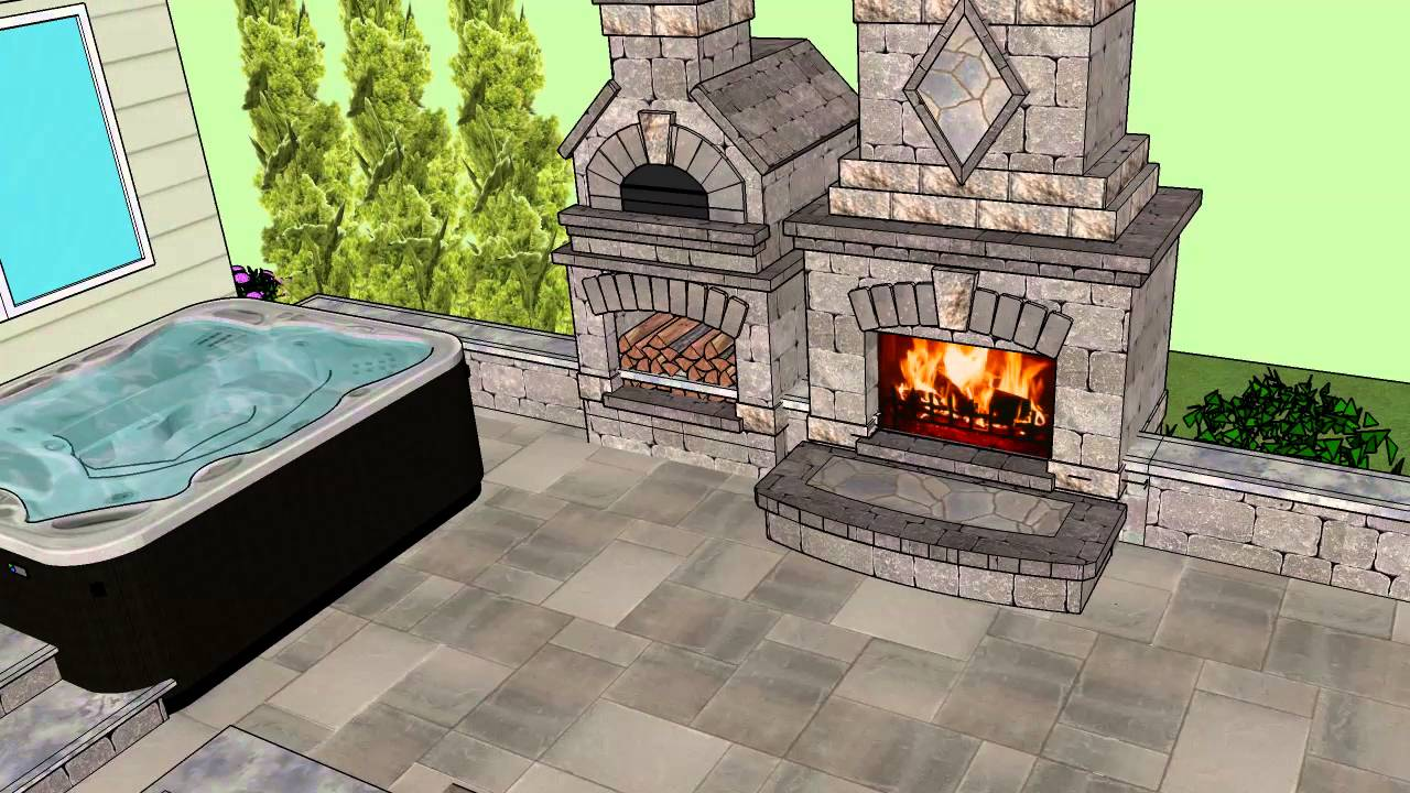 Smith Residence w/ Fireplace pizza oven combo - YouTube