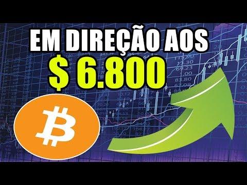 Bitcoin SUBINDO ! Próximo Alvo em $ 6.800? Análise BITCOIN