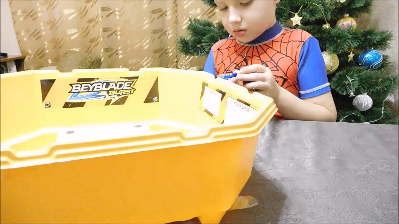 Бейблэйд Берст - НАБОР ОРИГИНАЛ с ареной от Hasbro! Распаковка игрушки: Волтраек, Спрайзен