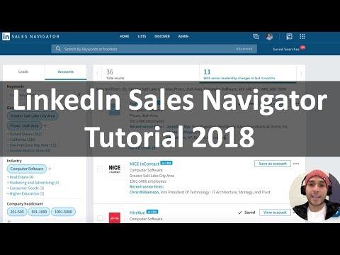 LinkedIn Sales Navigator Training Tutorial 2018