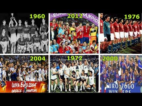 UEFA EUROPEAN CHAMPIONSHIP WINNERS 1960-2016