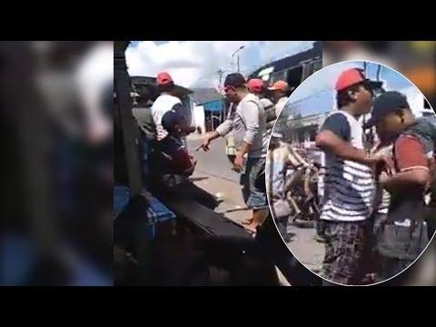 KEJAM, Aksi Preman di Terminal Parluasan Pematangsiantar Beredar di Linimasa Medsos