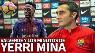 La explicación de Valverde a los pocos minutos de Yerry Mina | Diario AS