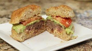 50/50 Burger - 1/2 Bacon - 1/2 Beef - Delicious Hamburger! By Rockin Robin