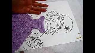 Pintura em tecido – Boneca Patrícia – Como pintar boneca negra 1-2