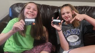 The Girls Get Credit Cards!