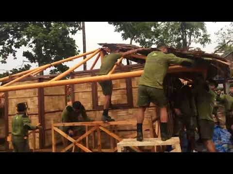 WATCH: Troops build Marawi shelter in 10 minutes