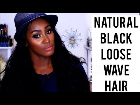 Natural Black Loose Wave Hair with Feshfen.com   Shlinda1