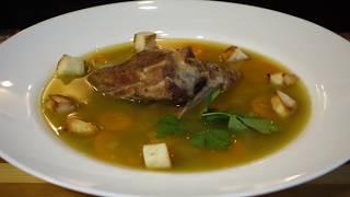 Ароматный Гороховый Суп с Запеченными Свиными Ребрышками!