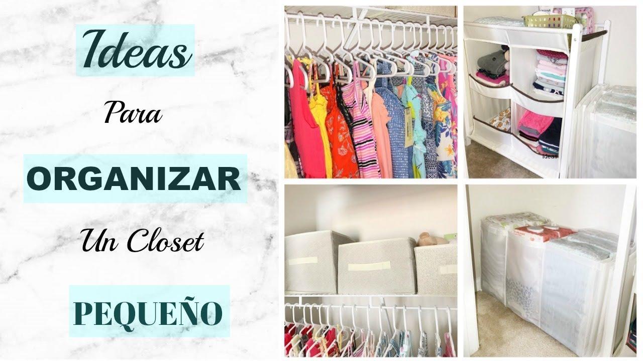 C mo organizar un closet peque o ideas faciles econ micas - Como organizar un armario empotrado pequeno ...