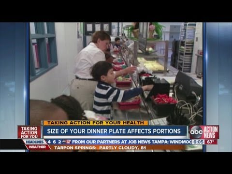 Smaller plate size cuts child obesity?