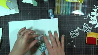 Scrapbook Tutorial: Glamorous Glitter Embellishments