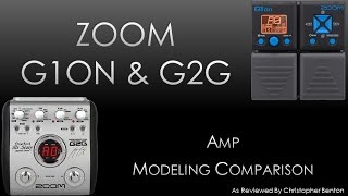 zoom g2g and g1on amp models comparison