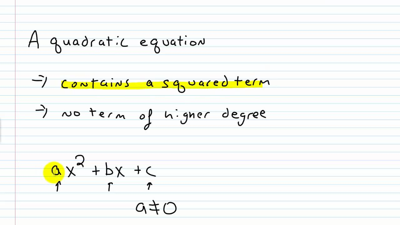 Algebra I Help Writing A Quadratic Equation In Standard Form Youtube