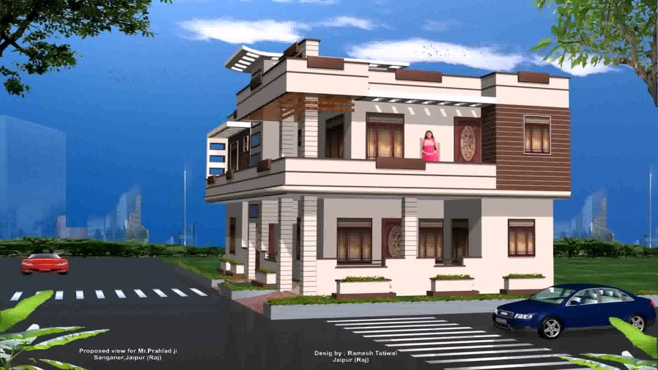 Complete House Design And Outside View With Photo