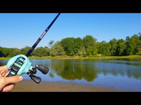 Bank Fishing SMALL LAKE for BIG FISH