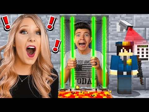 ESCAPE THE WORLD'S MOST SECURE MINECRAFT PRISON WITH MY WIFE! (MCPE)