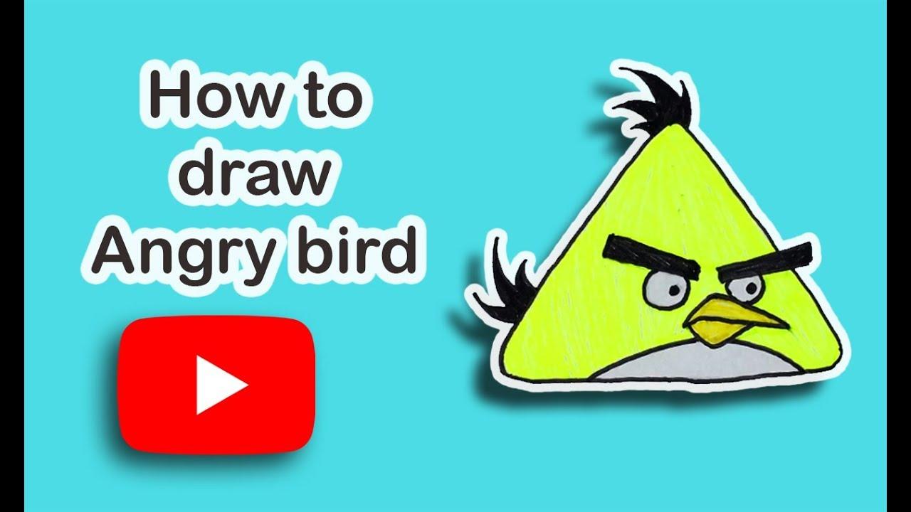Como Desenhar O Pássaro Amarelo De Angry Birds Personagem: How To Draw Angry Birds / Yellow Bird