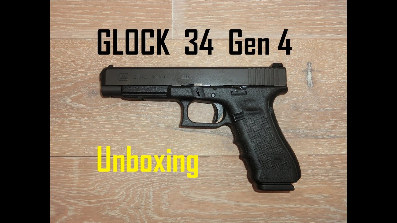 Glock 34 Gen 4 - Unboxing and first IPSC shots