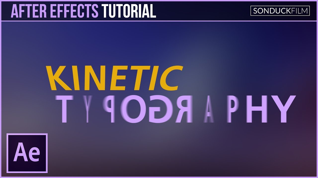 after effects tutorial kinetic