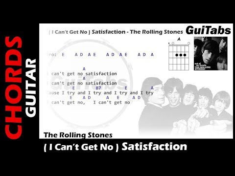 The Rollling Stones - (I Can't Get No) Satisfaction ( Lyrics and GuiTar Chords ) 🎸
