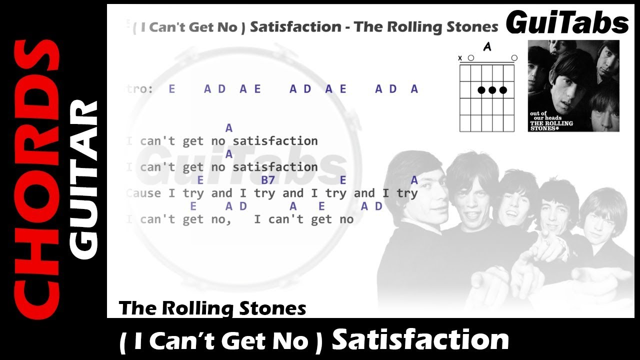 I cant get no satisfaction the rollling stones lyrics and i cant get no satisfaction the rollling stones lyrics and guitar chords hexwebz Choice Image