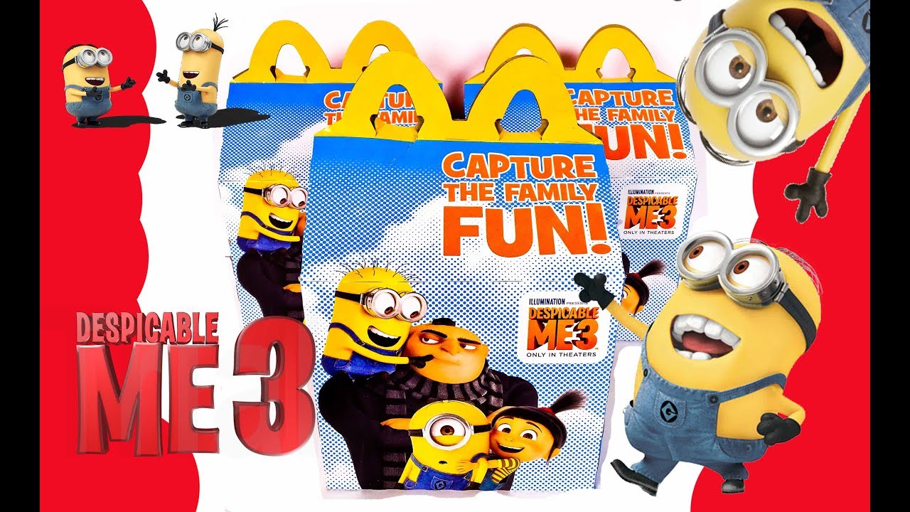 minions at mcdonalds com sweepstakes new despicable me 3 mcdonalds happy meal toys sets 2017 2843