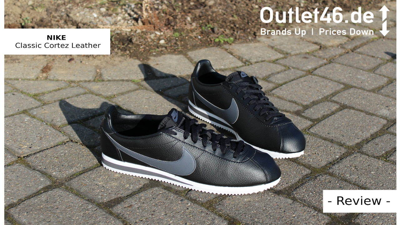 nike classic cortez trainers in black suede