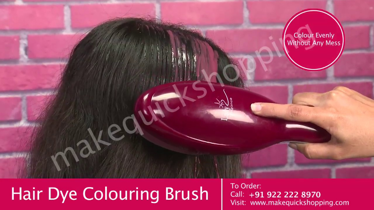 Hair Dye Coloring Brush Comb - YouTube