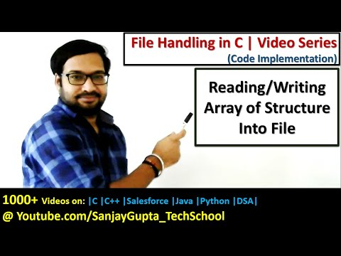 Reading and writing array of structure into file using file handling in c programming