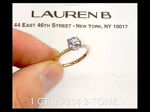 1 carat Round Diamond Two-Tone Engagement Ring