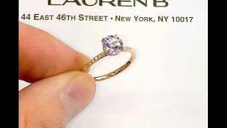1 carat Round Diamond Two-Tone Engagement Ring