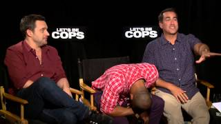 Let´s Be Cops: Damon Wayans Jr, Jake Johnson & Rob Riggle Official Movie Interview
